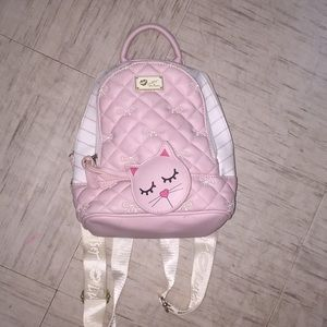 Pink and White mini Backpack! Very good condition